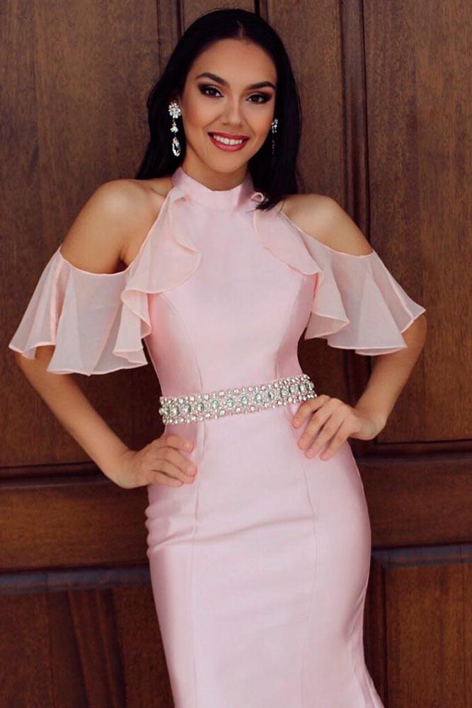 Light Pink Shoulders Off Dress #pinkdress
