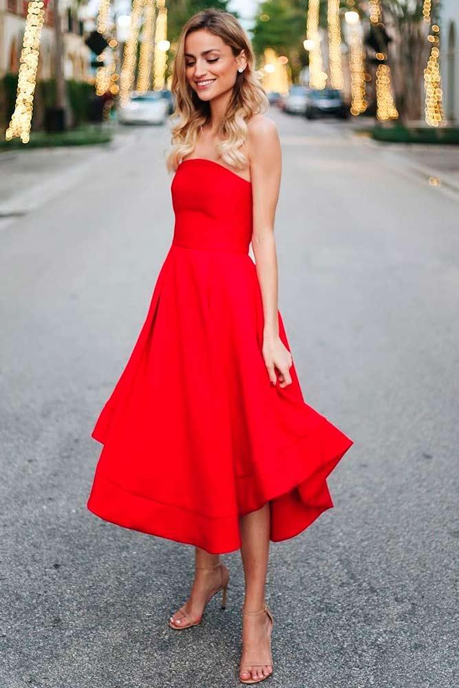 Elegant Midi Red Dress #reddress #mididress