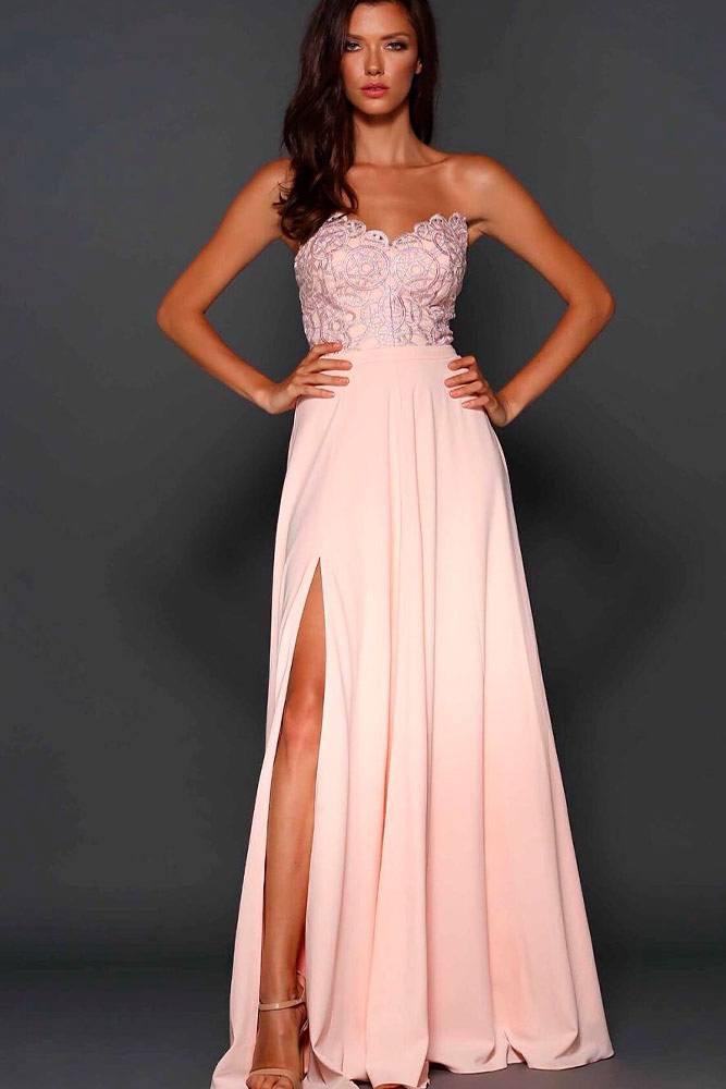 Strapless Peach Dress #peachdress #straplessdress