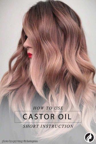 Short Instruction To Apply Castor Oil #haircare #longnaturalhair