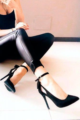 High Stilettos Heels With Ankle Strap #stilettoheels #shoes