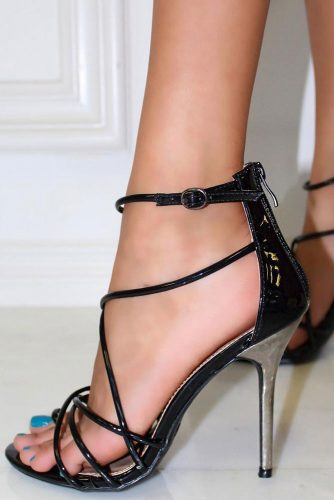 Sexy Corset Shoes With Metallic Heels #corsetsandals