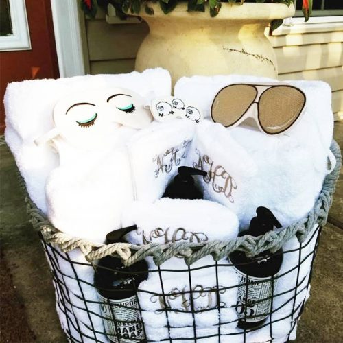 Gift Basket Idea For A Happy Couple #giftbasket #sleepmask