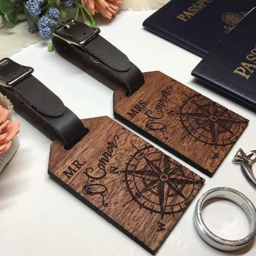 Personalized Luggage Tags Set Gift Idea #luggagetags