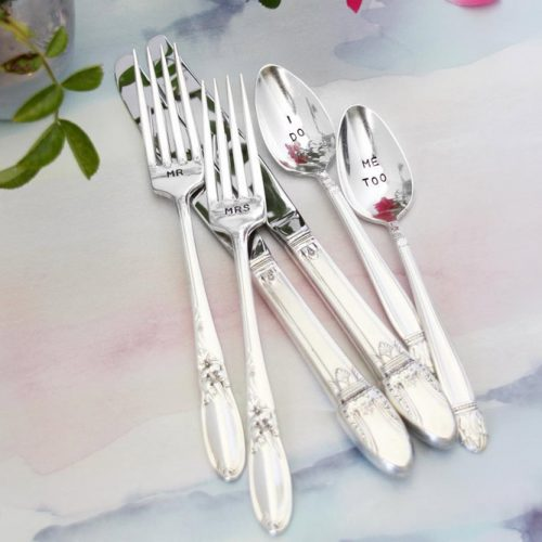 Silver Personalized Set For A Couple #silverset #couple
