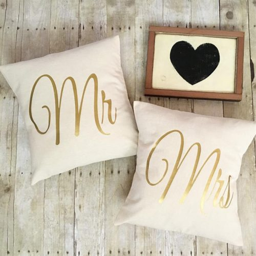 Mr & Mrs Pillows Set #personalizedpillows
