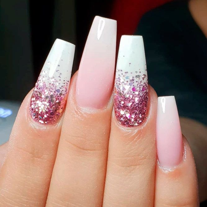 Glitter Ombre For Mesmerizing Manicure #pinknails #glitternails