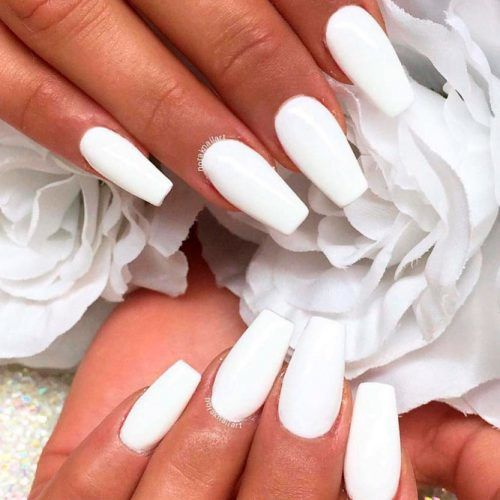 Total White Nails For Special Event #purenails #whitenails