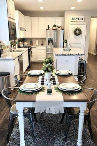 Modern Kitchen Decor Idea #modernkitchen #kitchenisland