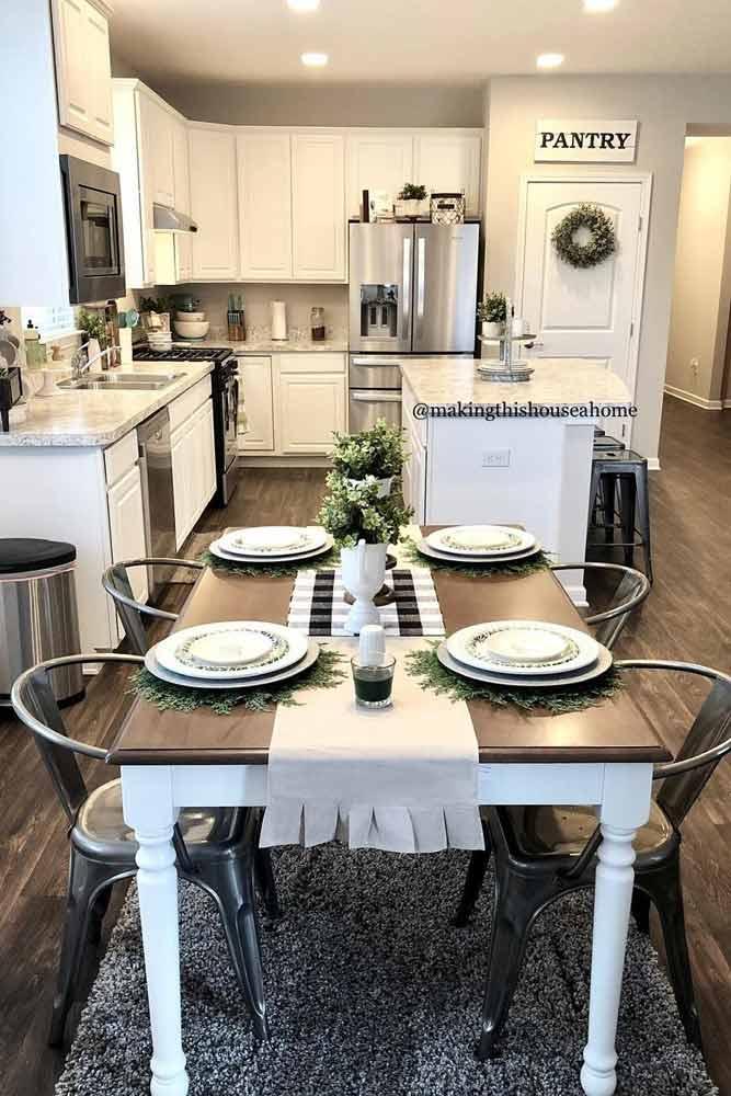 Modern Kitchen Decor Idea #modernkitchen #kitchenisland