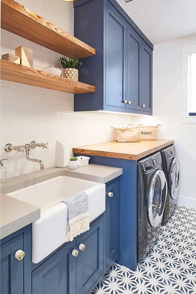 Laundry Design In Blue Color #bluelaundry