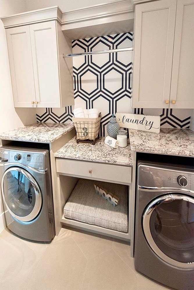 Laundry Design In Modern Style #modernlaundry #lockers