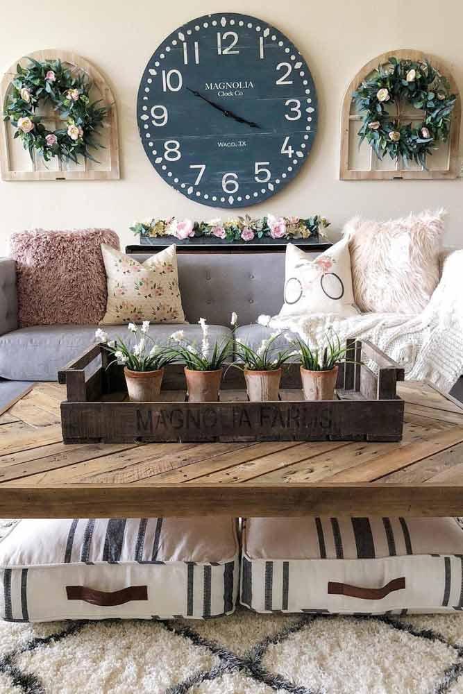 Rustic Living Room Decor #rusticlivingroom