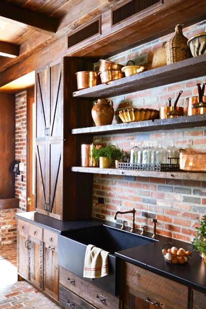 Rustic Kitchen Décor Idea #rustickitchen