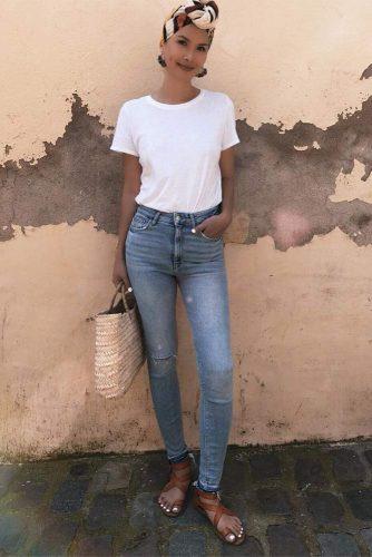 Light Blue Skinny Jeans #lightblueskinny
