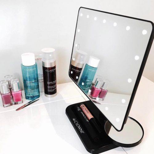 Makeup Mirror With Beauty Items Storage #makeupstorage #ledmirror