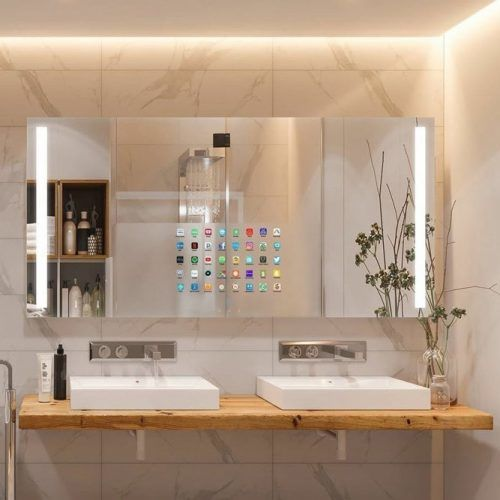 Smart Lighted Mirror Design #bathroomdesign