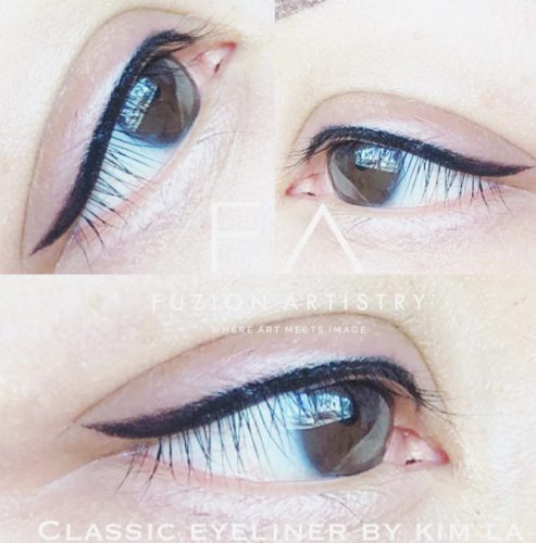 Pin Up Permanent Eyeliner #pinupeyeliner #blackline