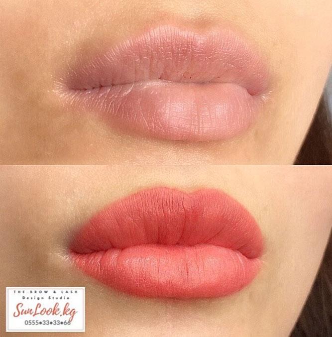 Natural Full Lips Permanent Makeup #nudelips #permanentlips