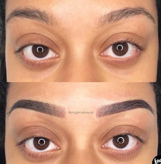Combination Eyebrows Permanent Makeup #combinationbrows #permanentbrows