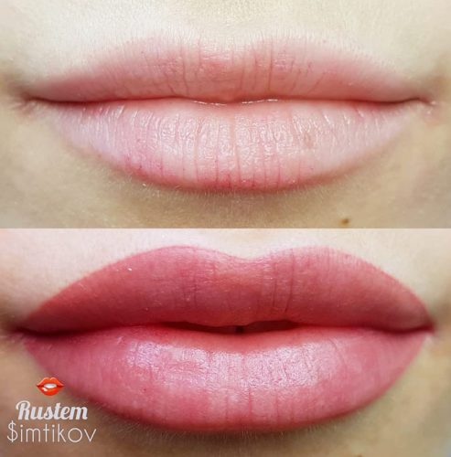 Correction Of The Lips Shape – Create Full Lips #fulllips #permanentmakeup