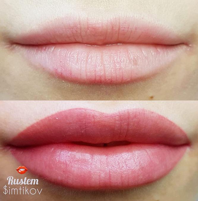 Correction Of The Lips Shape – Create Full Lips #fulllips #permanentmakeup