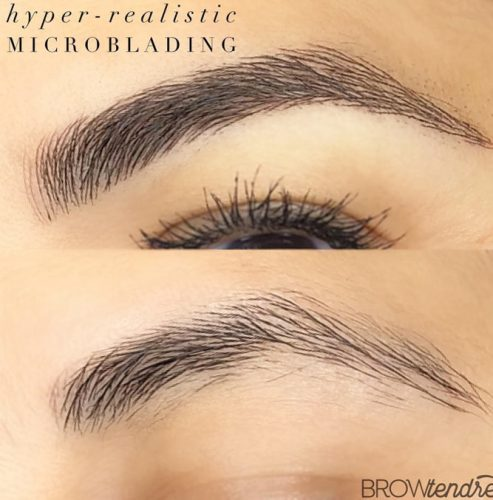 Microblanding Eyebrows Permanent Makeup #microblading #permanentbrows