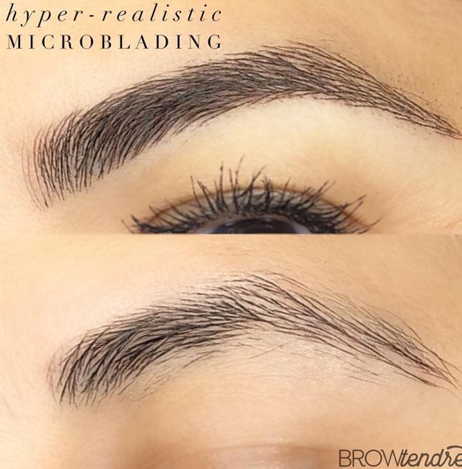 Microblanding Eyebrows Permanent Makeup #microblading #permanentbrows