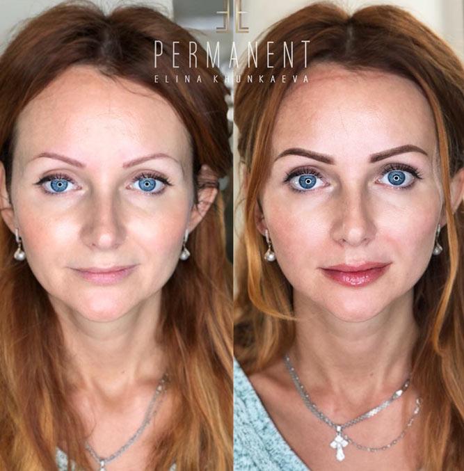 Permanent Makeup Transformation #makeuptransformation