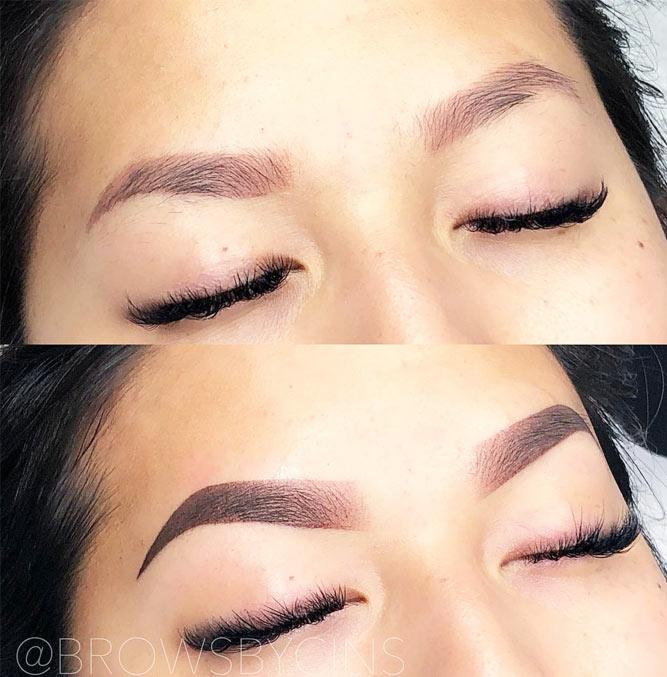 Powder Ombre Eyebrows Permanent Makeup #powderbrows #ombrebrows