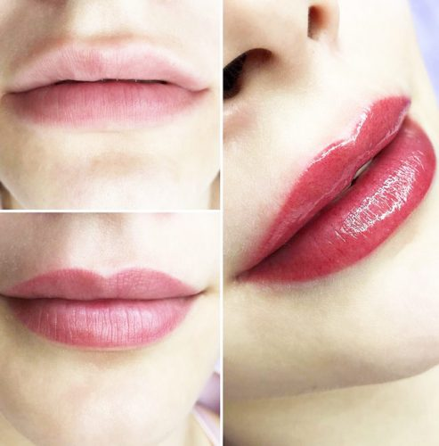 Correction Of The Contour Lips And Add More Color #correctionshape #permanentlips