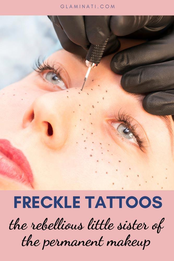 Freckle Tattoos #facetatto