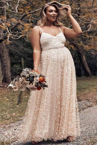 Blush Tone Unique Wedding Dress #blushtone #stones