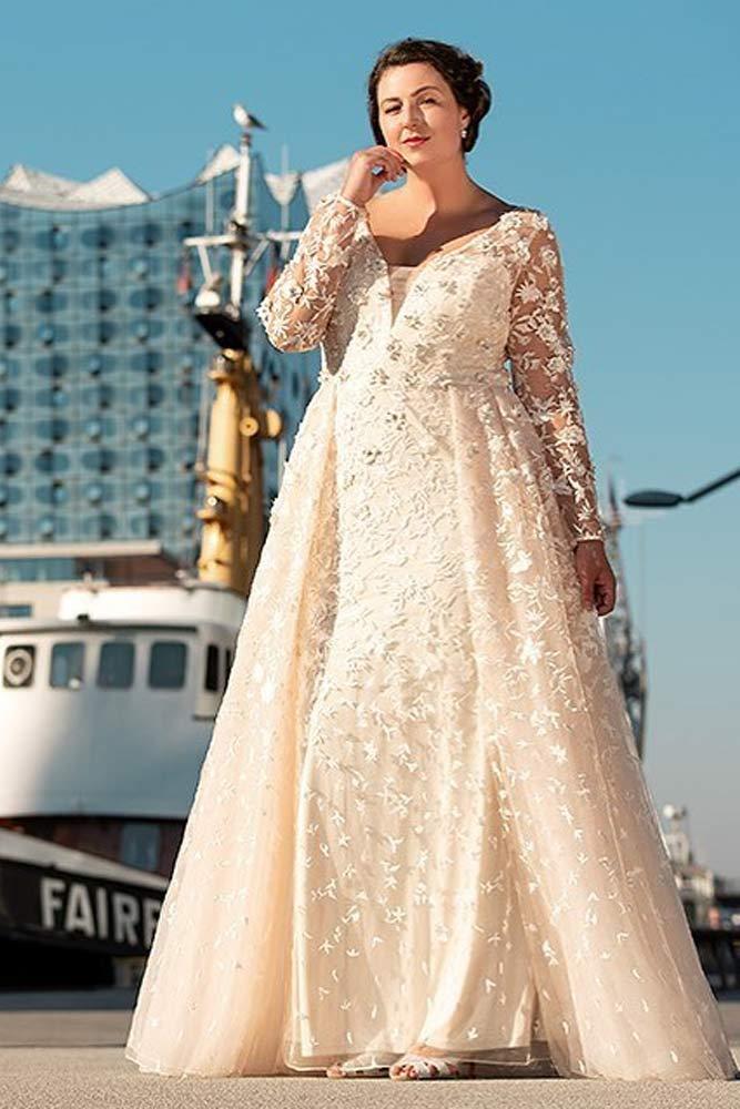Ivory Plus Size Dress Design #ivory #aline