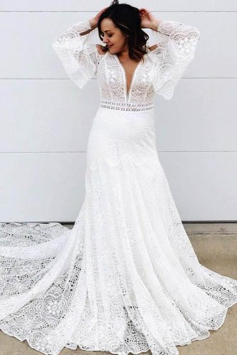 Boho Wedding Dress Design #bohemianweddingdress