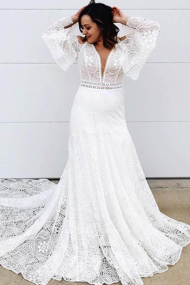 Boho Wedding Dress Design #bohemianweddingdress