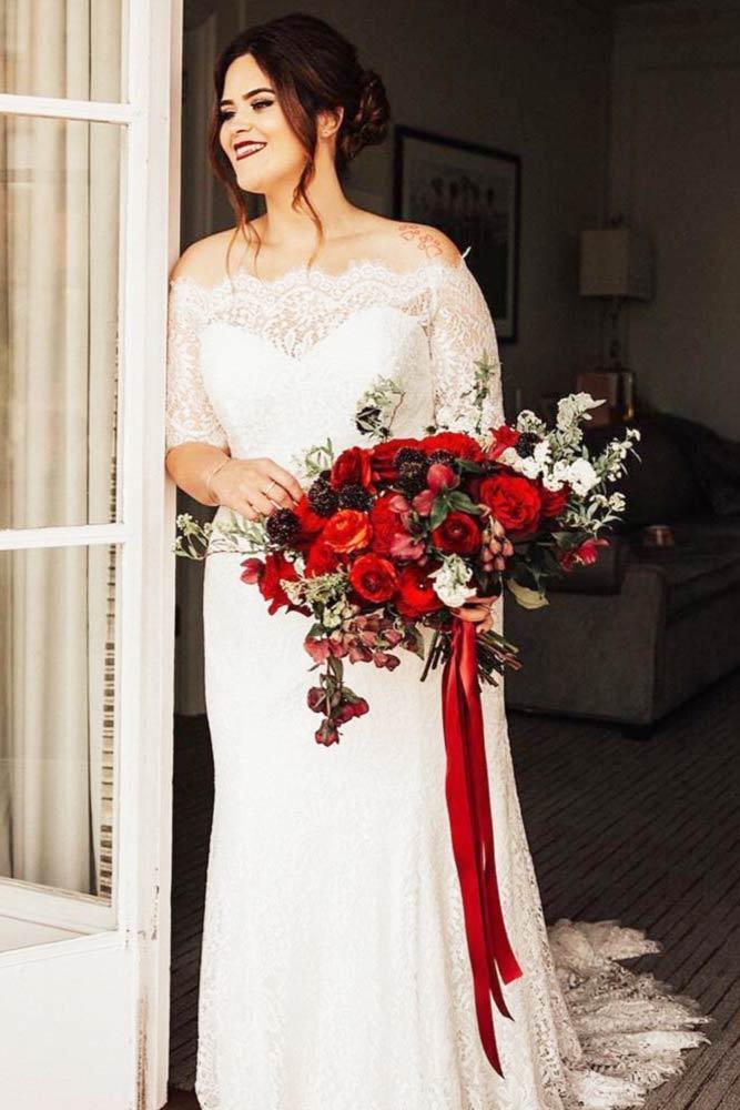 Cap Sleeves Plus Dress Design #capsleeves #laceweddingdress