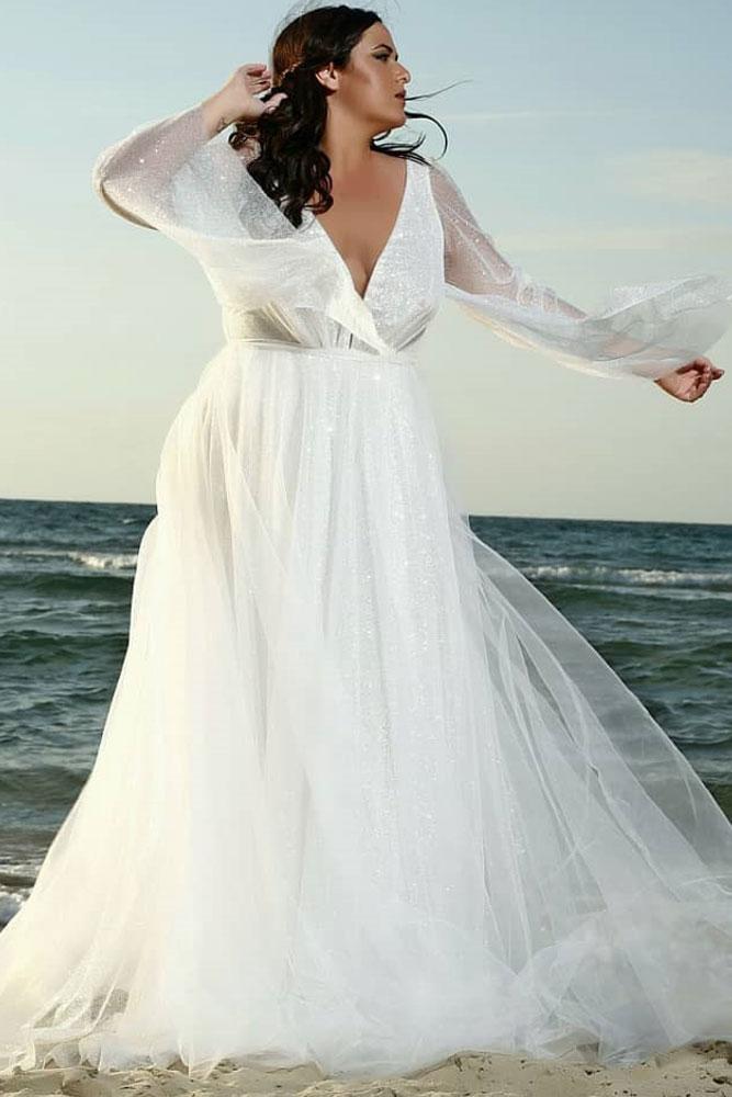 Boho Wedding Dress Design With Long Sleeves #longsleeves #bohodress
