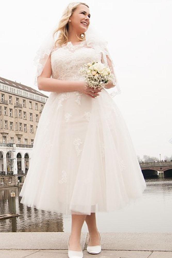 Midi Plus Size Dress Design #midiweddingdress