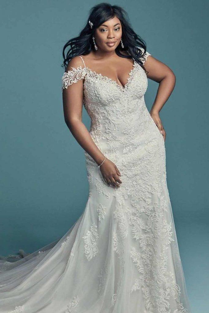 Off-The-Shoulder Mermaid Dress #mermaidweddingdress #wedding