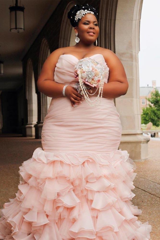 Pink Wedding Dress Design #pinkdress #colorweddingdress