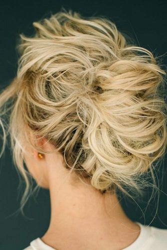 Messy French Twisted Updo With Waves #messyupdo #frenchtwistupdo