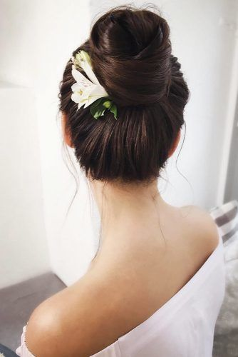 High Twisted Bun #updo #longhair