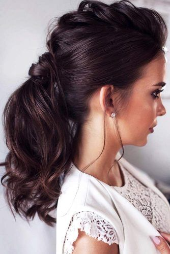 Mohawk Braided Low Pony #updo #braids #ponytail