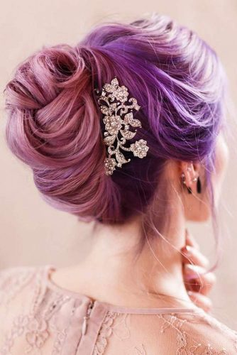 Beautiful Pastel Purple Updo To Accentuate Your Femininity #purplehair #hairaccessory
