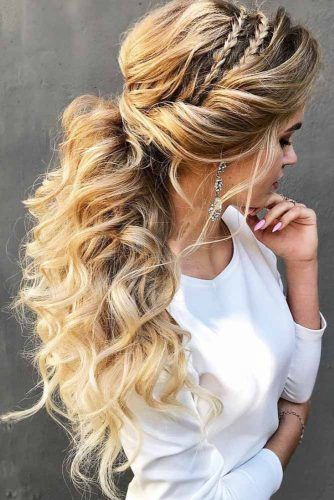 Twisted Pony With Headband Braids #updo #longhair #ponytail #braids