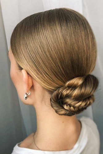 Easy Sleek Updo For Every Day #sleekbun #braidedbun