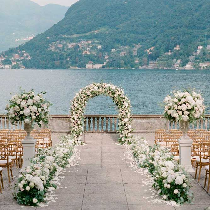 Classic Garden-Inspired Ceremony Arch #weddingarchway #outdoorwedding