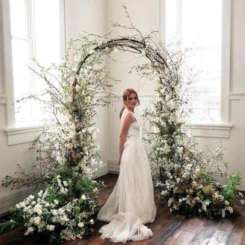 Floral Wedding Arch from Fairytale #indoorwedding #weddingdecoration