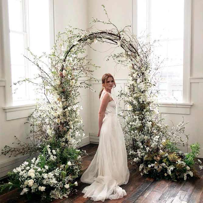 Floral Wedding Arch from Fairytale #indoorwedding #weddingdecoration